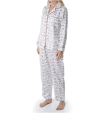Carole Hochman Brushed Back Satin PJ Set