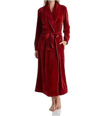 Carole Hochman Holiday Long Wrap Robe