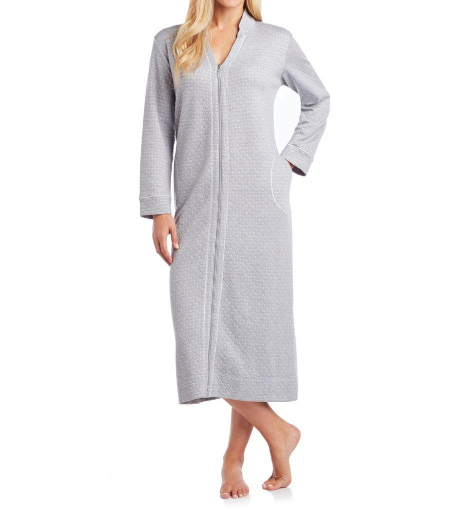 Carole Hochman Diamond Shimmer Quilt Zip Robe