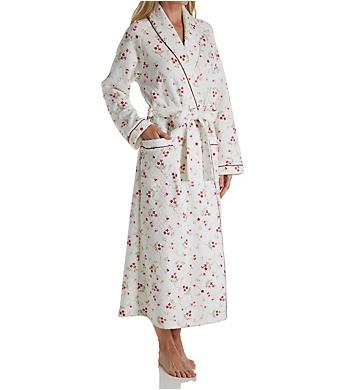 Carole Hochman Vine Floral Long Wrap Robe