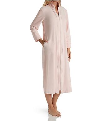 Carole Hochman Velour Long Zip Robe