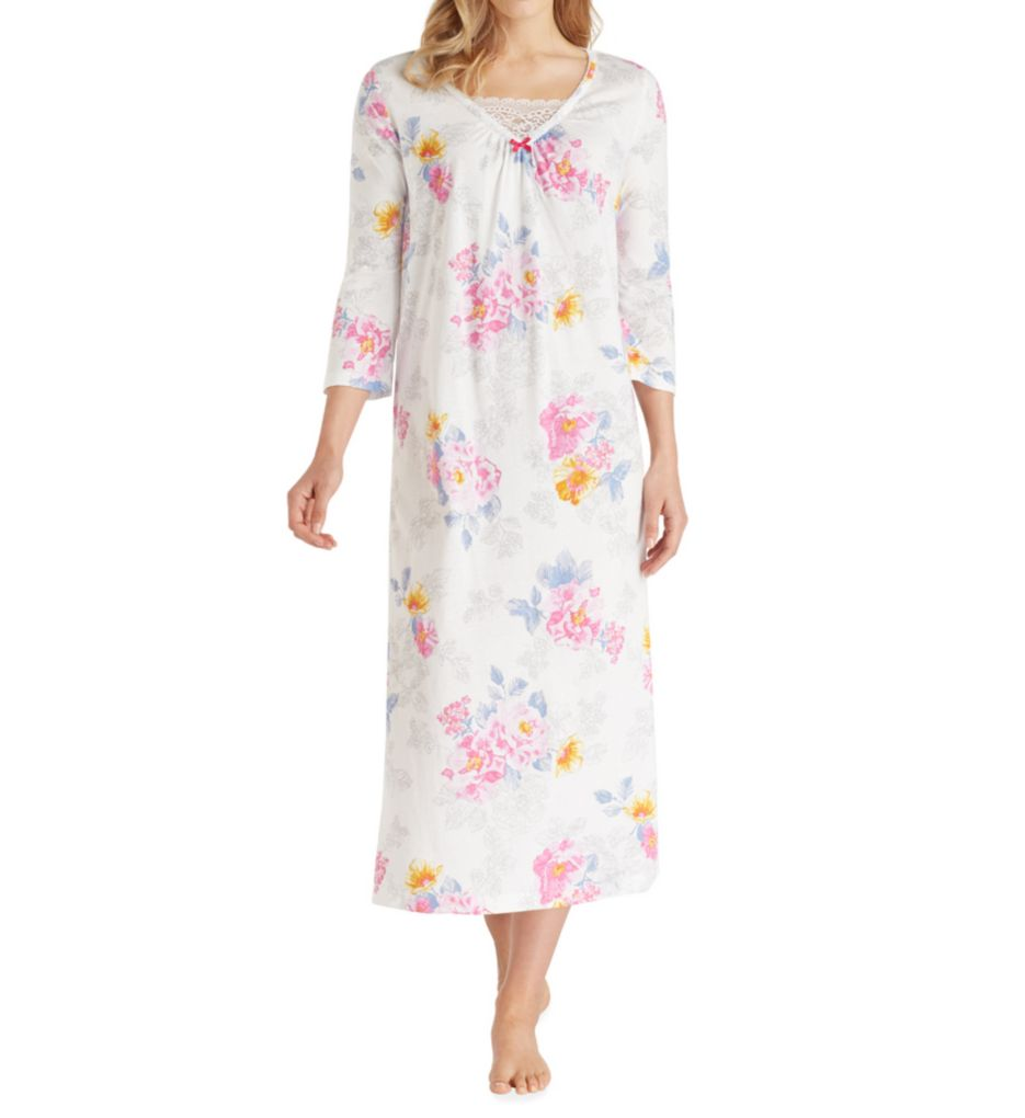 Carole Hochman Flora 3/4 Sleeve Long Gown