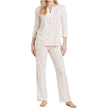 Carole Hochman Embroidered Long PJ Set