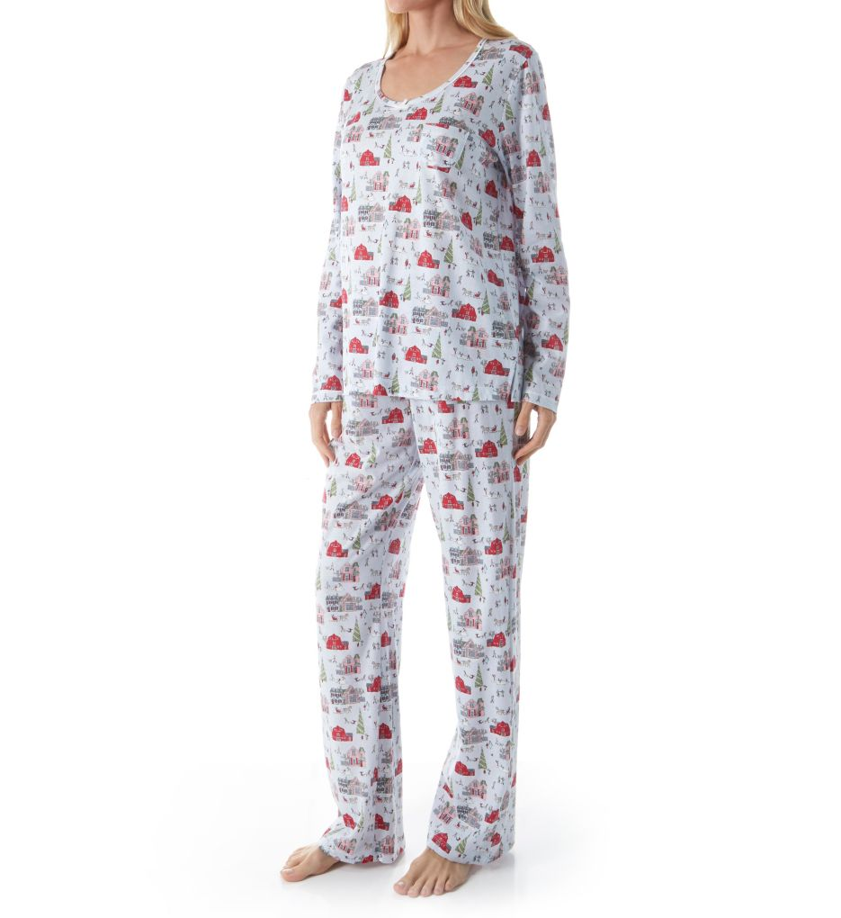 Carole Hochman Holiday Bouquet Long PJ