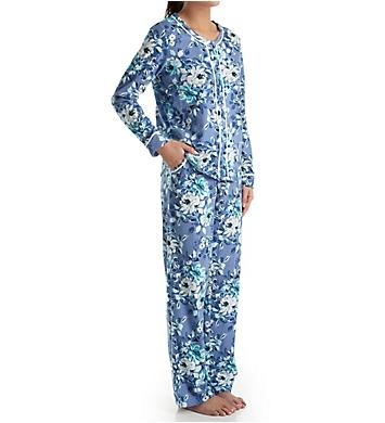Carole Hochman Blue Floral Long Pajama Set