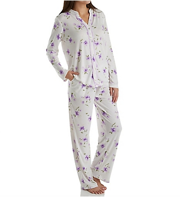 Carole Hochman Watercolor Long PJ Set