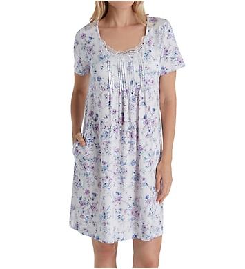 Carole Hochman Lavender Floral Short Gown