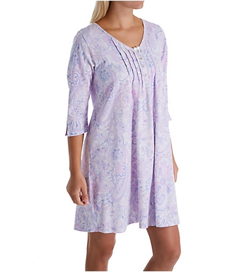 Carole Hochman Lilac 3/4 Sleeve Cotton Sleepshirt