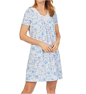 Carole Hochman 100% Cotton Short Sleeve Short Gown