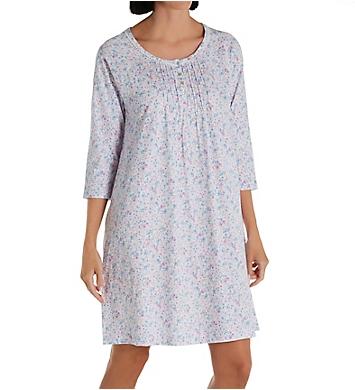 Carole Hochman 100% Cotton 3/4 Sleeve Sleepshirt