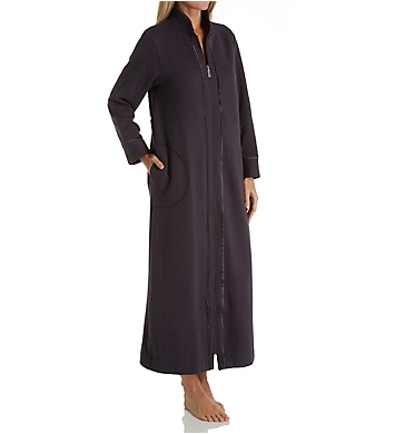 Carole Hochman Quilted Long Zip Robe