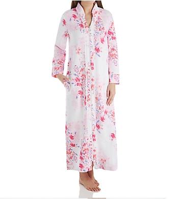 Carole Hochman Modern Floral Long Zip Robe