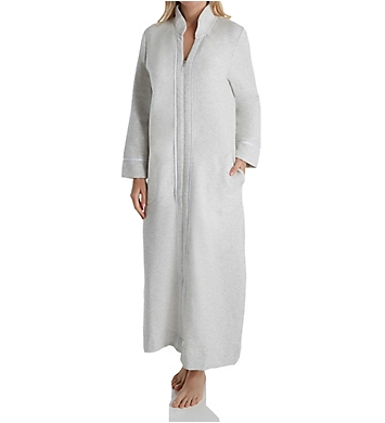 Carole Hochman Diamond Quilt Long Zip Robe