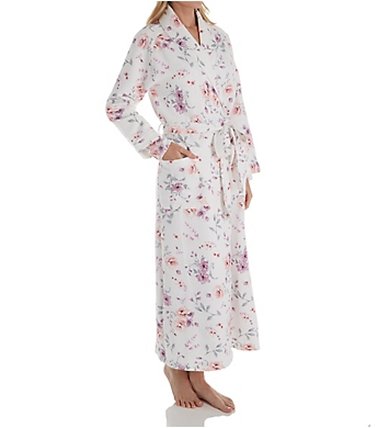 Carole Hochman Diamond Quilt Long Wrap Robe