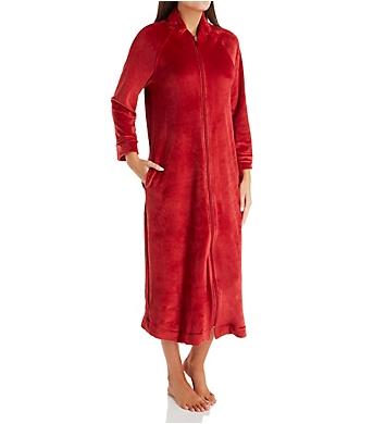 Carole Hochman Plush Luxe Velour Long Zip Robe