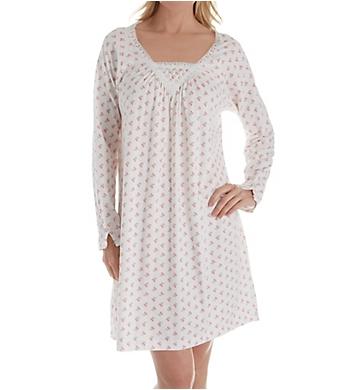 Carole Hochman Rose Floral Long Sleeve Short Gown