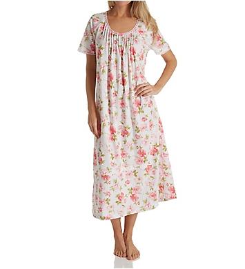Carole Hochman Soft Spring Short Sleeve Long Gown
