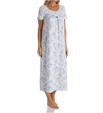 Carole Hochman Floral Twin Short Sleeve Long Gown