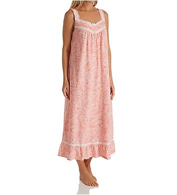 Carole Hochman Water Paisley Sleeveless Long Gown