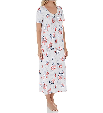 Carole Hochman Cherry Bloom Floral Long Gown