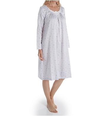 Carole Hochman Brushed Back Satin Long Sleeve Waltz Gown
