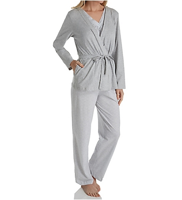 Carole Hochman 3 Piece Long PJ Set
