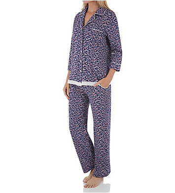 Carole Hochman Cherry Bloom Floral Long PJ Set