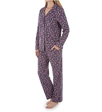 Carole Hochman Summer Bloom Long Sleeve & Long Pant PJ Set