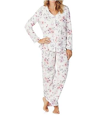 Carole Hochman Rose Floral Long Sleeve and Long Pant PJ Set