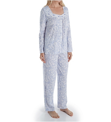 Carole Hochman Lilac Vine Floral Long Sleeve Long Pant PJ Set