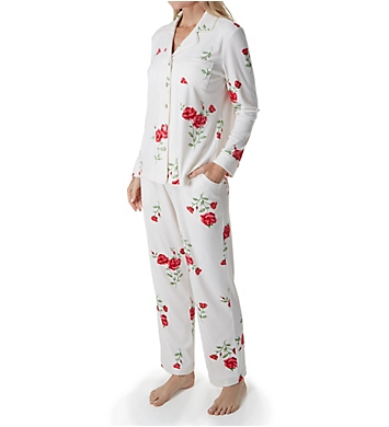 Carole Hochman Luxe Fleece Long Sleeve and Long Pant PJ Set