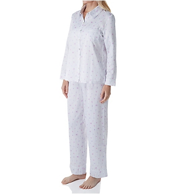 Carole Hochman Brushed Back Satin Long Sleeve Long Pant PJ Set
