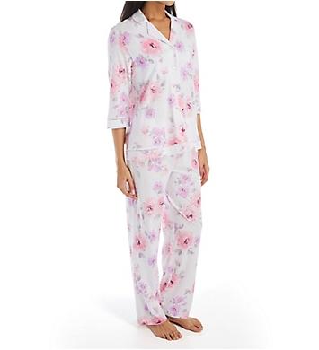 Carole Hochman Lilac Floral Cotton Long PJ Set