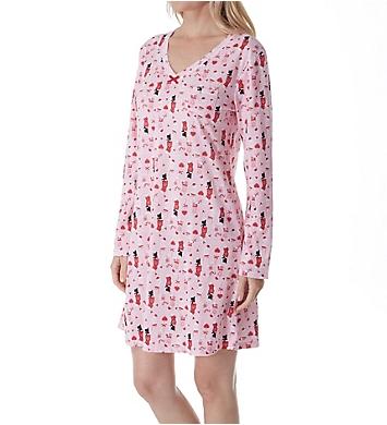 Carole Hochman Holiday Essential Long Sleeve Sleepshirt