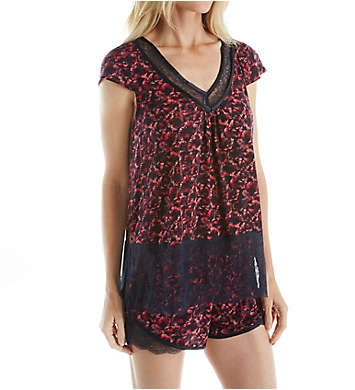 Carole Hochman Midnight Burst Short PJ Set