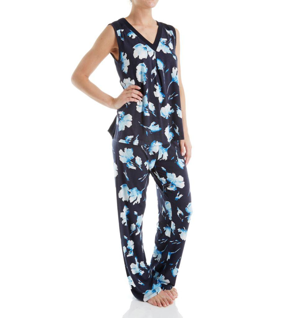 Carole Hochman Midnight In the Moment Sleeveless Long Pajama Set