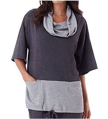 Carole Hochman Midnight Lounge Drawstring Top