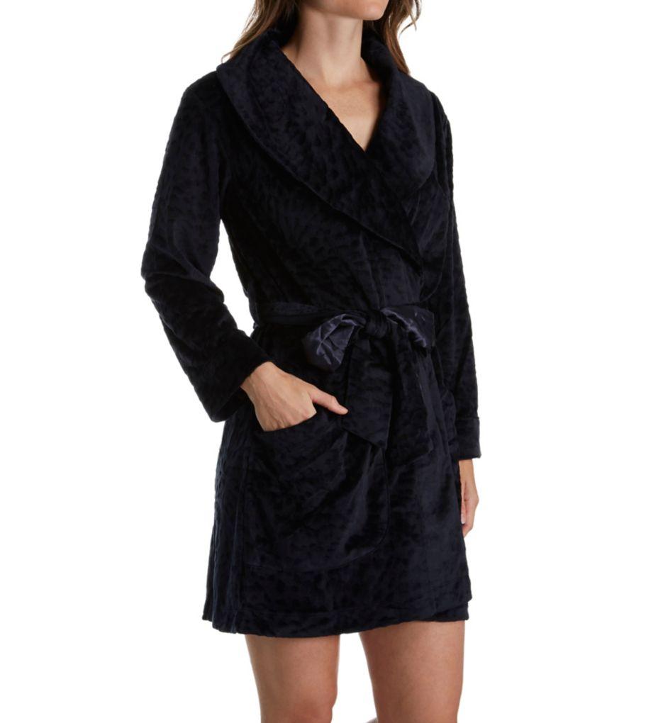 Carole Hochman Midnight Sheared Plush Short Robe