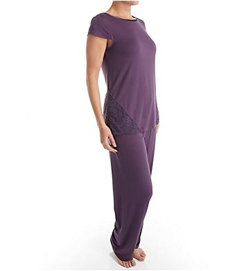 Carole Hochman Midnight Honeysuckle Long PJ Set