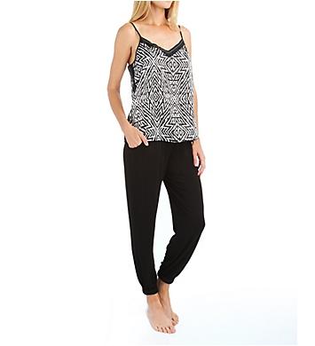Carole Hochman Midnight Tulum Print Pajama Set