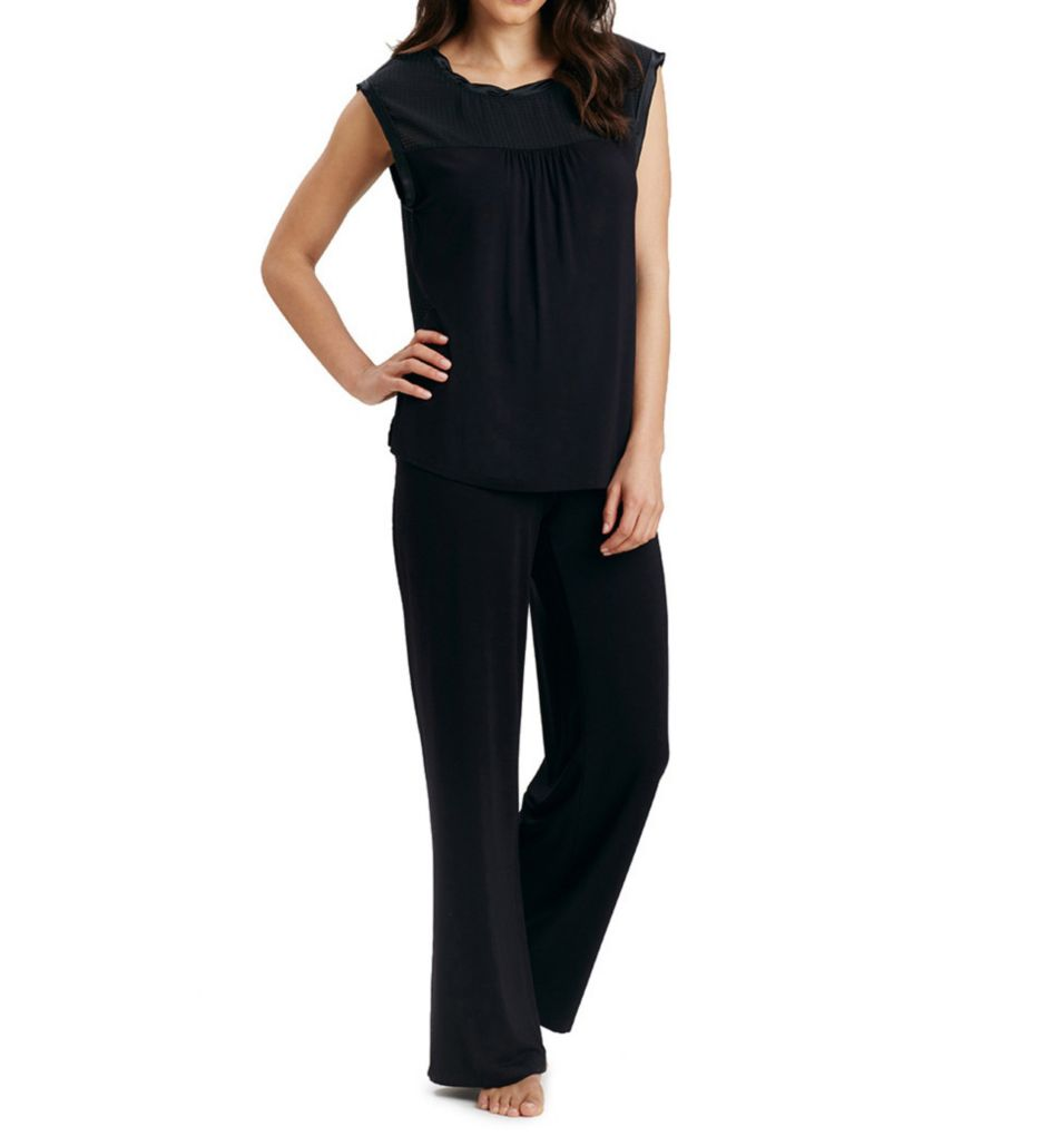 Carole Hochman Midnight Evening Long PJ Set