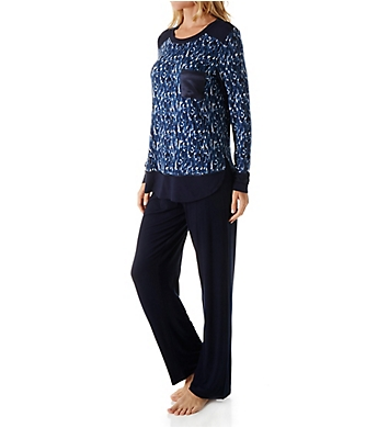 Carole Hochman Midnight In the Moment Long Sleeve Pajama Set
