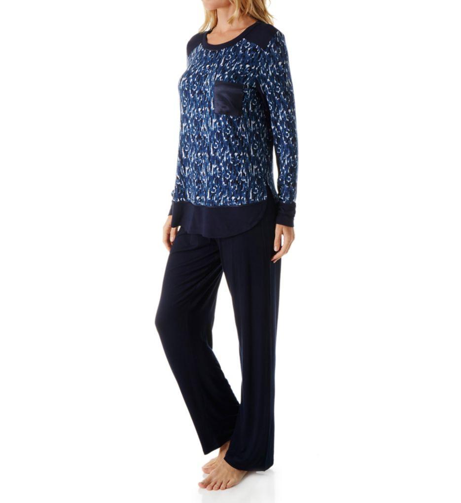 Carole Hochman Midnight In the Moment Long Sleeve Pajama Set
