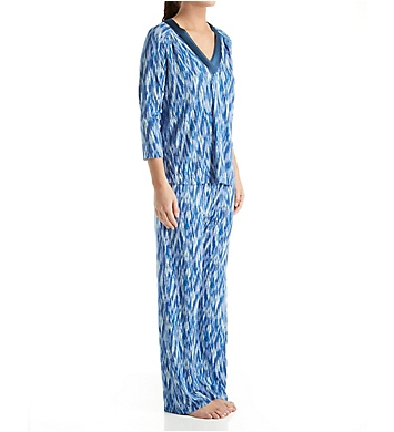 Carole Hochman Midnight Midnight Storm Long Sleeve V-Neck Pajama Set