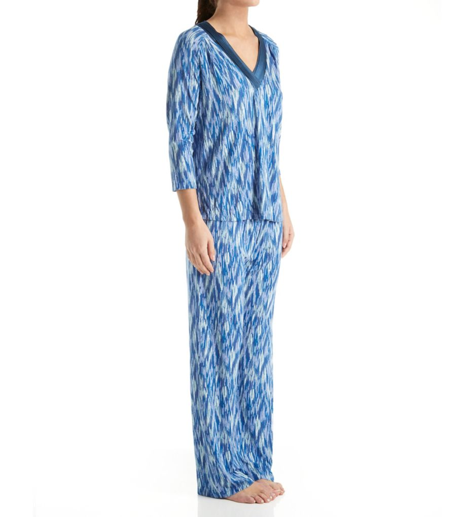 Carole Hochman Midnight Midnight Storm Long Sleeve V-Neck Pajama Set