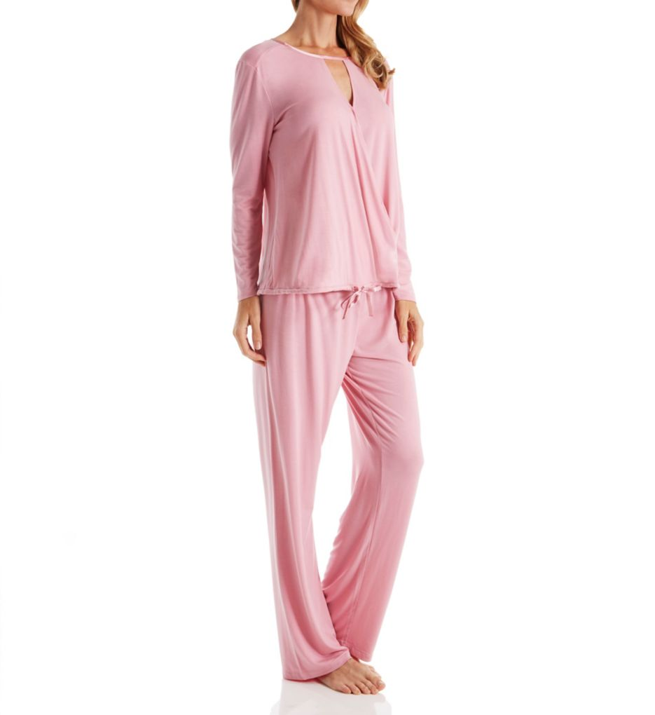 Carole Hochman Midnight Bouquet Long PJ Set
