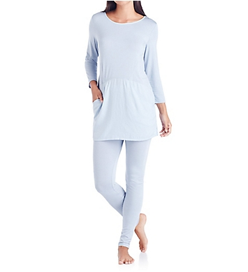 Carole Hochman Midnight Breezy Long PJ set