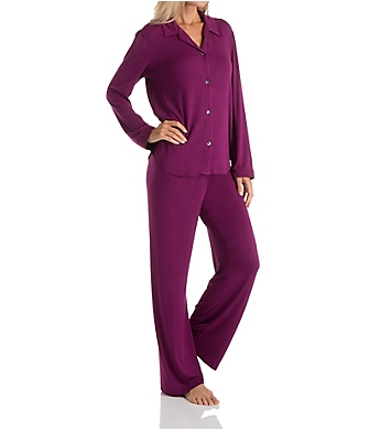 Carole Hochman Midnight Winter Berry Long Sleeve Pajama Set