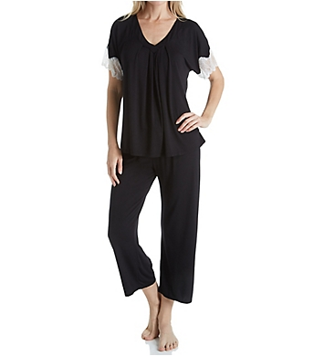Carole Hochman Midnight Midnight Dreams Lace Capri Pajama Set