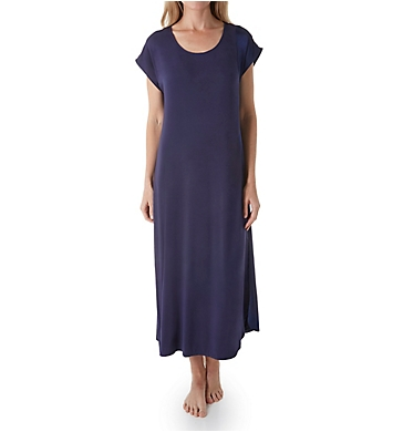 Carole Hochman Midnight Moonlight Orchid Short Sleeve Long Gown